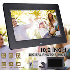10.2'' HD 1024x600 Digital Photo Frame Clock Movie Music Player + Remote Control