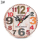 Vintage Wooden Wall Clocks Antique Style Shabby Chic Rustic Kitchen Home Decor