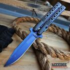 "CAMPING HUNTING 8.5"" BUTTERFLY KNIFE STYLE Pocket Folding Knife Assisted Open"