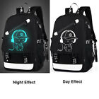 Girl Boy's Galaxy School Bag Travel Canvas Backpack USB Charger Anti-Theft Lock