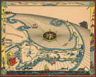 Midcentury Cape Cod Map Wall Art Poster Print Vintage History Home School Office