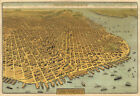 San Francisco 1912 Exposition Map Wall Art Poster History Home School Office