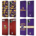 OFFICIAL NFL 2018/19 MINNESOTA VIKINGS LEATHER BOOK CASE FOR APPLE iPHONE PHONES