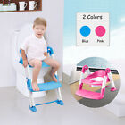 Trainer Toilet Potty Seat Chair Kids Toddler With Ladder Step Up Training Stool image