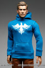 mcc1021-06 Blue Smart Fit Hoodie (Eagle Printed) for 1/6 Figure Enterbay Hot Toy