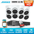 ANNKE 8CH Überwachungskamera 3MP DVR PIR Detektion Visual Alert 2MP Kamera H265+