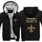 New Orleans SAINTS Fans Thicken Hoodie Winter Fleece Sweatshirt Zip Coat Jacket