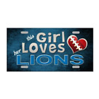 """This Girl Loves Her NFL Football Team Tags Signs Wall Decor Yard Signs 6"""" x 12"""""""