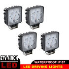 4pcs 4inch Square LED Work Flood Light Bar Driving Offroad Truck Trailer UTE 4x4