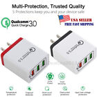 3Port Fast Qualcomm Quick Charge QC 3.0 USB Hub Wall Charger Adapter US Plug