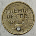 French Gaming House Entrance Token, Chemin de Fer Club, Paris?? 1950's   1121-12