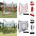 Baseball Softball Practice Hitting Batting Training Net W/ Carry Bag