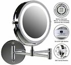 Ovente Wall Mount LED Lighted Makeup Mirror Battery Operated 1x/10x
