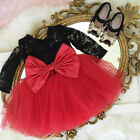 US Christmas Toddler Baby Girls Lace Princess Tulle Party Pageant Dress Clothes <br/> ❤CHRISTMAS PARTY COSTUME❤US STOCK❤FAST 3-7 DAYS❤
