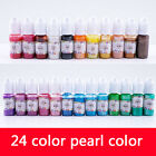 24 Colors 10g Epoxy UV Pearl Resin Pigment Dye Colorant Jewelry Making Crafts.