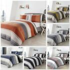 Fusion Betley Stripe Duvet Cover Bedding Set Blue,Spice,Grey,Ochre,B&W Or Blush image