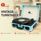 1byone Belt Drive Turntable Record Player Briefcase Suitcase Built in Speakers