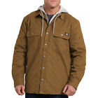Dickies Men's Relaxed Fit Icon Hooded Duck Quilted Shirt Jacket Style # TJ203 BD