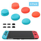 6 Pack Soft TPE Thumb Grip Set Analog Joystick Cap Cover for Nintendo Switch