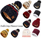 Kyпить Mens Womens Cable Knitted Bobble Hat Plain Beanie Very Warm Winter Pom Wooly Cap на еВаy.соm