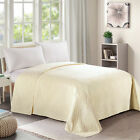Single Bed Quilt Bedspread Twin Full Queen King Pinsonic Diamond Pattern Cream image