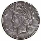 Early 1922 Peace Silver Dollar - 90% Silver - US Coin *607
