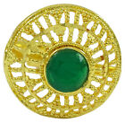 Bollywood Gold Tone Adjustable Ring Ethnic Indian Wedding Women Jewelry-KR72-PAR