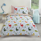 Dreamscene Dinosaur Duvet Cover with Pillow Case Kids Boys Girls Bedding Set