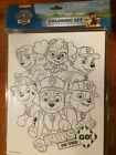 """Paw Patrol Pups On The Go. Coloring Set 1 Board 8.5""""x11"""" x 4 Markers Nickelodon"""