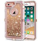 IPhone 6S Plus Case, Anuck 3 In 1 Hybrid Heavy Duty Defender Sparkly Floating -