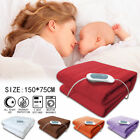 'Luxury Fleece Electric Heated Throw Over Under Blanket Soft Plush Warmer Warm Uk