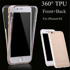 360° Case Shockproof TPU Gel Transparent Clear Cover For iPhone 6/6Plus Gift LE