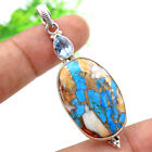 Solid 925 Sterling Silver ewelry Oyster Copper Turquoise Xmas Gift Pendant