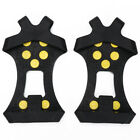 1Pair Climbing Ice Snow Shoes Boot Spikes Grips 10-Stud Crampons Anti Slip Grips