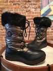 Cougar Cranbrook Bronzee Waterproof Lace Up Fur Snow Winter Boots 10 NEW