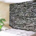 USA 3D Stone Brick Decorative Tapestry Bedspread Wall Hanging Living Room Decor