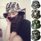 Unisex Bucket Hat Boonie Flat Hunting Fishing Outdoor Beach Caps Safari Men Sun