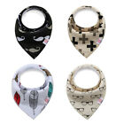 4PCS Baby Infant Boy Girl Bandana Bibs Feeding Saliva Towel Dribble Triangle Bib