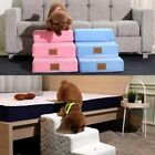 Dog Stairs Foam Pet Ramp Ladder for High Bed 3 Easy Steps Small Dog up