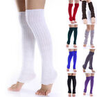 Fashion Women Girl Winter Long Leg Warmers Knit Crochet Leggings Stocking VG