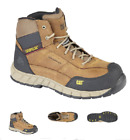 Cat STREAMLINE LEATHER MID CT airport safe non steel safety toe boots, s1 rated
