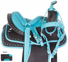 Used Western Saddle 10 12 13 Children Youth Kids Trail Show Horse Tack Free Pad