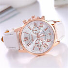 Fashion Geneva Women Lady Leather Watch Stainless Steel Quartz Analog Wristwatch image