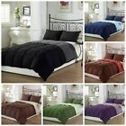Goose Down Alternative Luxurious Reversible Comforter Full Queen and King Stripe image