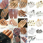 Bohemian Gold Silver Midi Finger Ring Set Vintage Punk Boho Knuckle Ring Jewelry