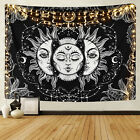 Sun and Moon Tapestries Buring Sun Psychedelic Wall Hanging Tapestry Art Home