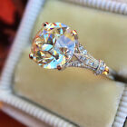 HOT 2.50ct Round Cut White Diamond Vintage Engagement Ring Wedding Jewelry