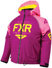 FXR Youth Wineberry/Electric Pink/Hi-Vis Clutch Insulated Snowmobile Jacket