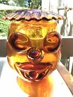 Rare Blenko Joel Myers Clown Face Vase 1966 Amberina Tangerine 6625 Art Glass