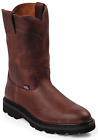 Justin Screwdriver Men's 9 Work Boots Lightweight Unlined Oiled Leather - WK4905